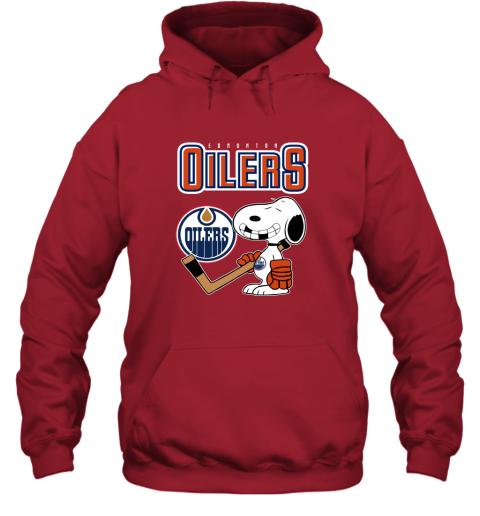 ubp1 edmonton oilers ice hockey broken teeth snoopy nhl shirt hoodie 23 front red