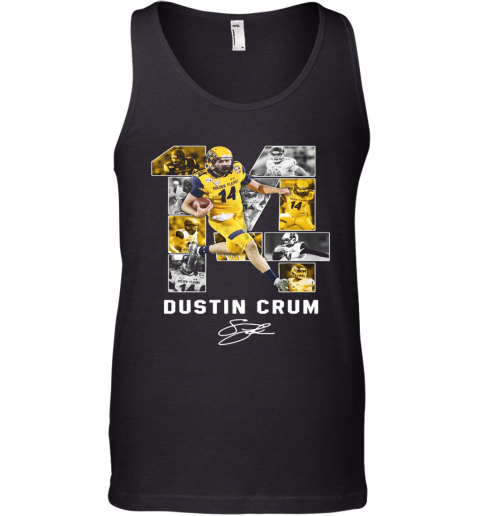 #14 Dustin Crum Kent State Golden Flashes Football Signature Tank Top