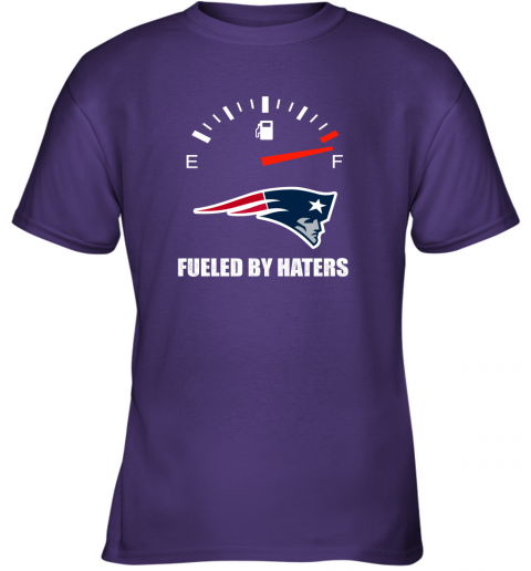 kulz fueled by haters maximum fuel new england patriots youth t shirt 26 front purple