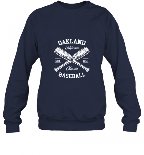 dd2l oakland baseball classic vintage california retro fans gift sweatshirt 35 front navy