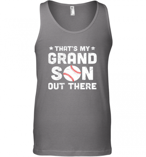 w3t6 grandma that39 s my grandson out there baseball unisex tank 17 front graphite heather