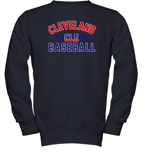 gitw cleveland cle baseball youth sweatshirt 47 front navy