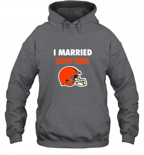 zw8p i married into this cleveland browns football nfl hoodie 23 front dark heather