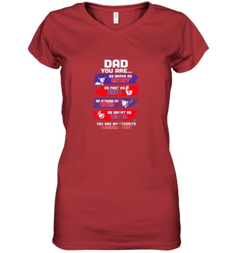 urlf javier baez baseball buddy shirtapparel women v neck t shirt 39 front red