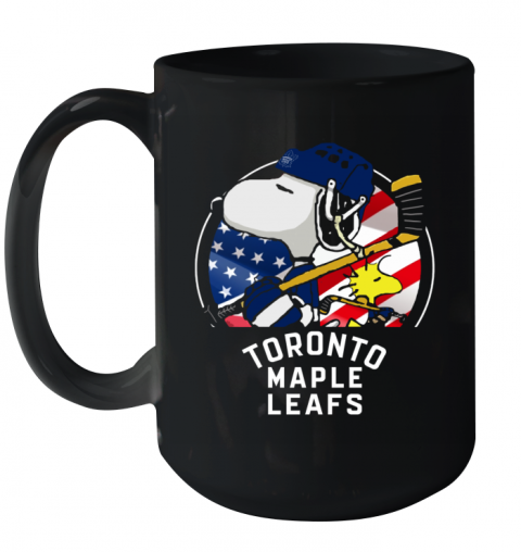 Toronto Mapples Leafs  Snoopy And Woodstock NHL Ceramic Mug 15oz