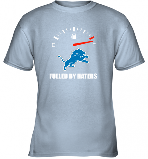 mrit fueled by haters maximum fuel detroit lions youth t shirt 26 front light blue