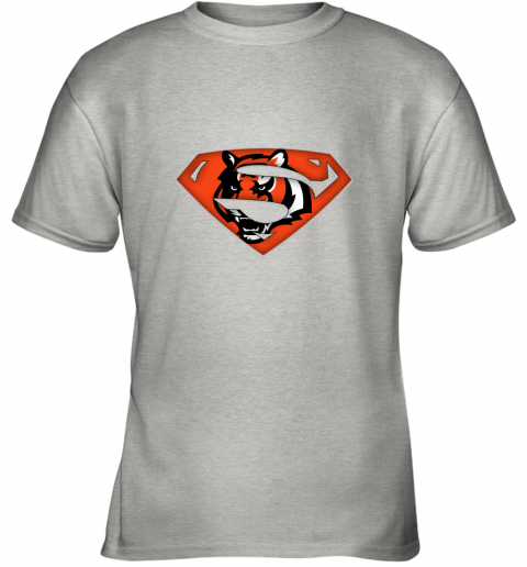 qu5h we are undefeatable the cincinnati bengals x superman nfl youth t shirt 26 front ash