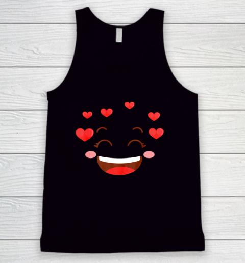 Kids Girls Valentine T Shirt Many Hearts Emoji Design Tank Top