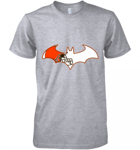 epgb we are the cleveland browns batman nfl mashup premium guys tee 5 front heather grey