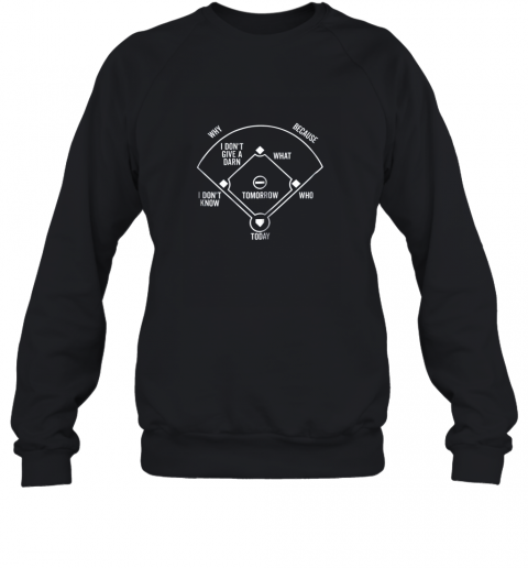 Who's on First Shirt Funny Positions (Dark) Sweatshirt