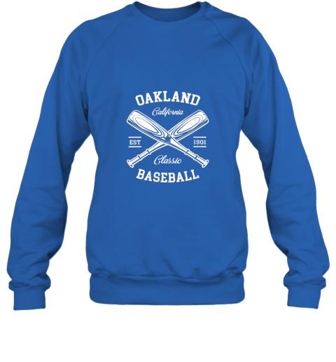 dd2l oakland baseball classic vintage california retro fans gift sweatshirt 35 front royal