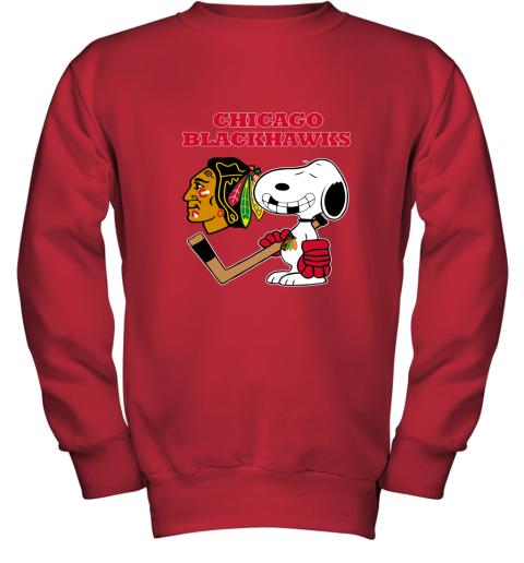 Chicago Blackhawks Ice Hockey Broken Teeth Snoopy NHL Youth Sweatshirt
