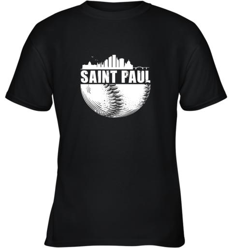 Saint Paul Skyline City Baseball Shirt Souvenir Skyline Youth T-Shirt