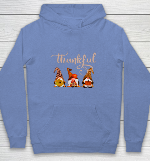 Cute Thanksgiving Thankful Gnomes Youth Hoodie 8