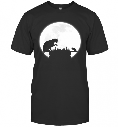 The Chess Board - The Cat, The Mouse And The Full Moon T-Shirt