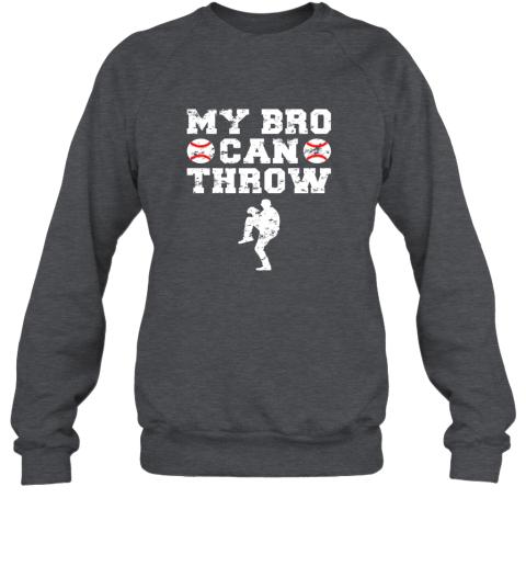 ns4e kids cute baseball brother sister funny shirt cool gift pitcher sweatshirt 35 front dark heather