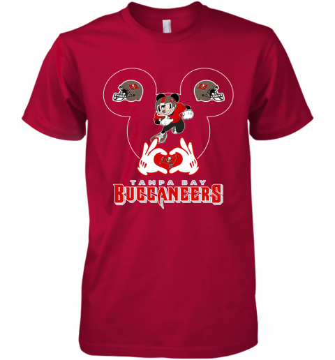 k8gz i love the buccaneers mickey mouse tampa bay buccaneers s premium guys tee 5 front red