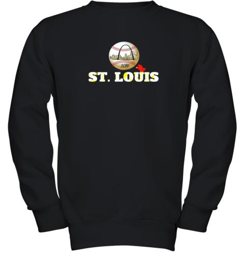 Saint Louis Red Cardinal Shirt Baseball Hometown 2019 Youth Sweatshirt