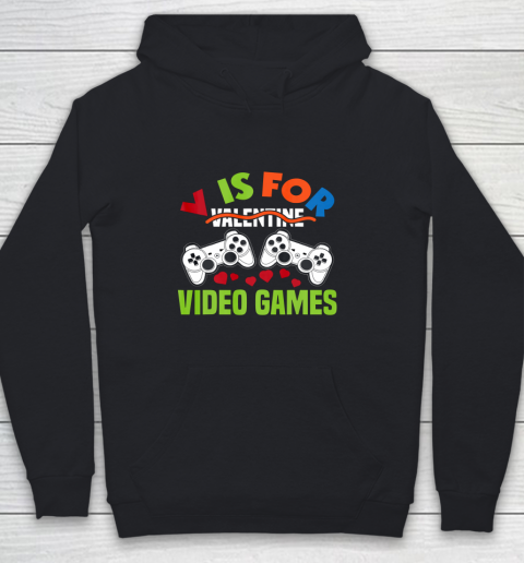 Funny Video Games Lover Valentine Day Youth Hoodie