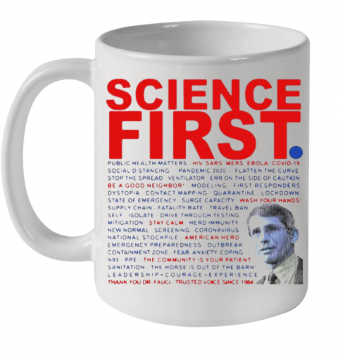 Dr Anthony Fauci Science First Milford Ceramic Mug 11oz