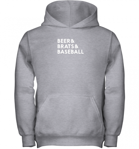 u3r8 beer brats baseball summer ampersand list youth hoodie 43 front sport grey