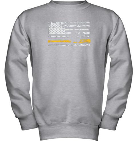 d8bq softball catcher shirts baseball catcher american flag youth sweatshirt 47 front sport grey