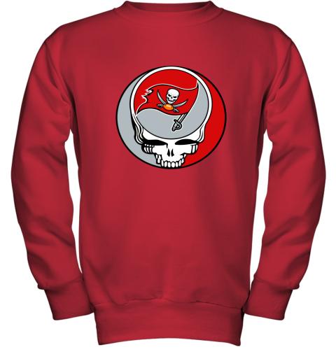 dwmc nfl team tampa bay buccaneers x grateful dead youth sweatshirt 47 front red