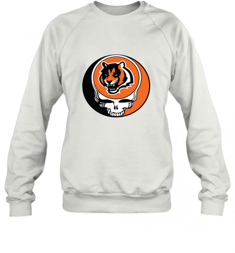 NFL Team Cincinnati Bengals x Grateful Dead Logo Band Sweatshirt