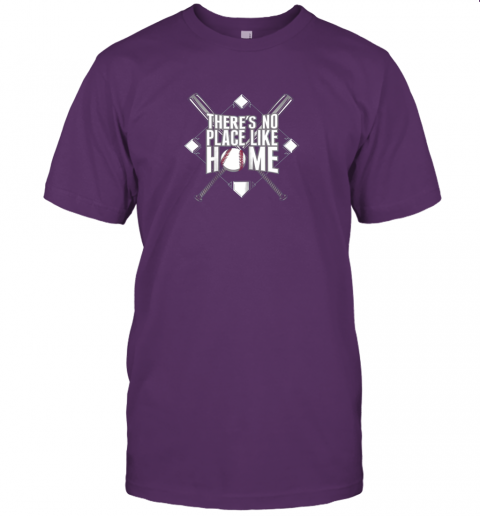 srw7 there39 s no place like home baseball tshirt mom dad youth jersey t shirt 60 front team purple