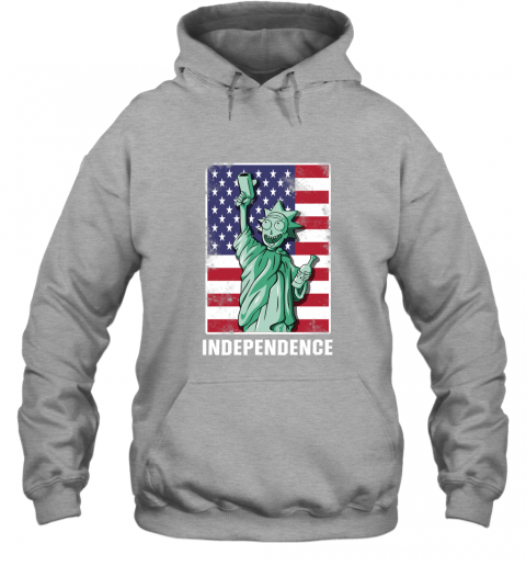 nmun rick and morty statue of liberty independence day 4th of july shirts hoodie 23 front sport grey