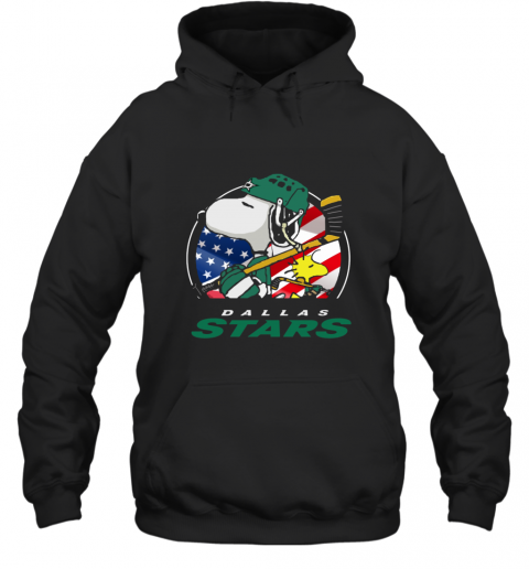 Dallas Stars Ice Hockey Snoopy And Woodstock NHL Hoodie