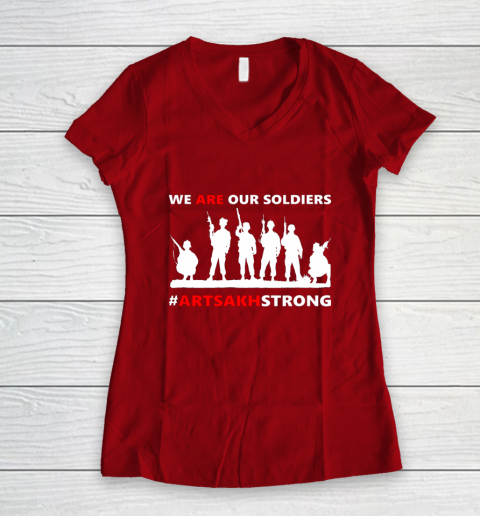 We Are Our Soldiers Women's V-Neck T-Shirt 8