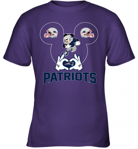 tu6x i love the patriots mickey mouse new england patriots youth t shirt 26 front purple