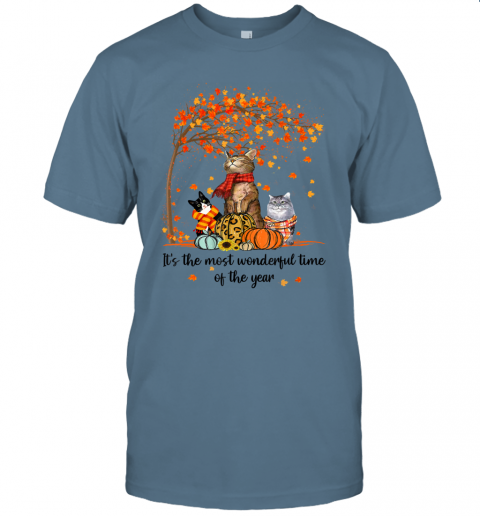 It's The Most Wonderful Time Of The Year Family Cats Autumn T-Shirt