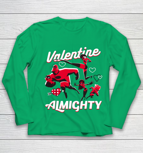Disney Pixar Incredibles Family Valentine Almighty Youth Long Sleeve 4