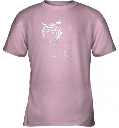 ckof tigres dominican baseball spanish espanol cool youth t shirt 26 front light pink