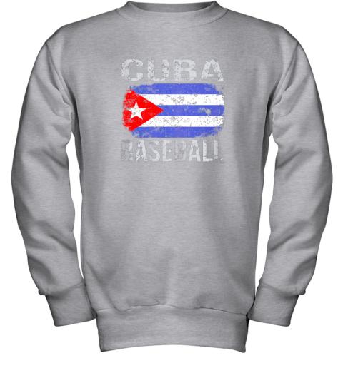 lmr4 cuba baseball cuban flag youth sweatshirt 47 front sport grey