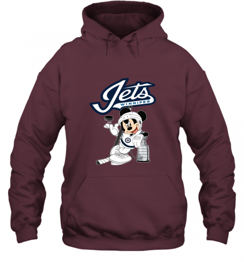 Mickey Winnipeg Jets With The Stanley Cup Hockey NHL Hoodie