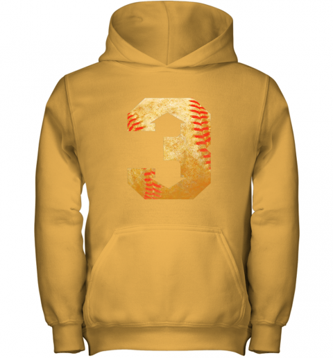 i1ey three up three down baseball 3 up 3 down youth hoodie 43 front gold