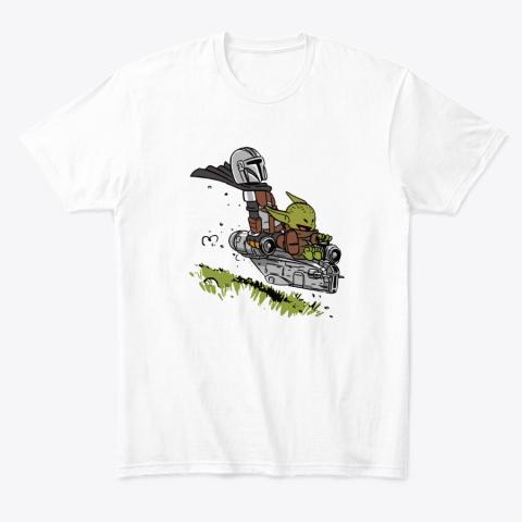 Baby Yoda And Mandalorian Calvin And Hobbes T-Shirt