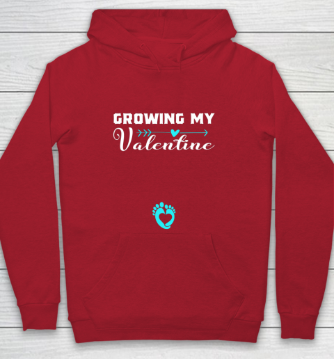 Cute Growing my Valentine Gift for Women pregnancy Youth Hoodie 7