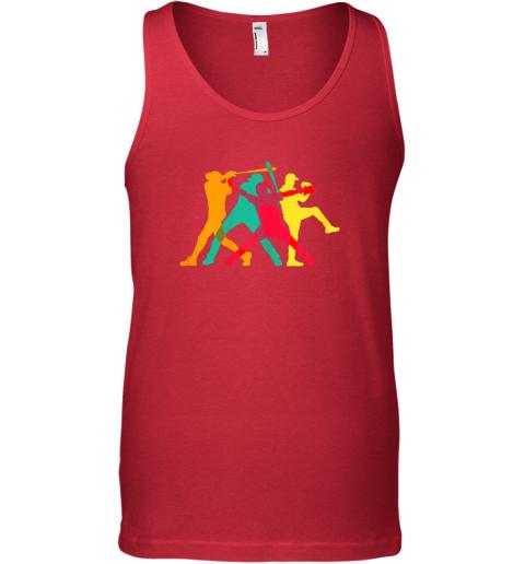 zktu vintage baseball shirt gifts unisex tank 17 front red