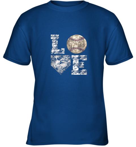 g0s0 baseball distressed ball cute dad mom love gift youth t shirt 26 front royal