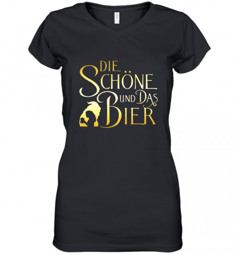 Die Schone Und Das Bier Shirt Women's V-Neck T-Shirt