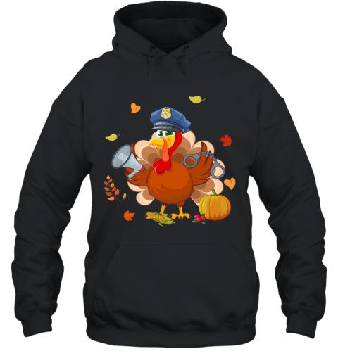 Police Turkey Thanksgiving Gift Hoodie