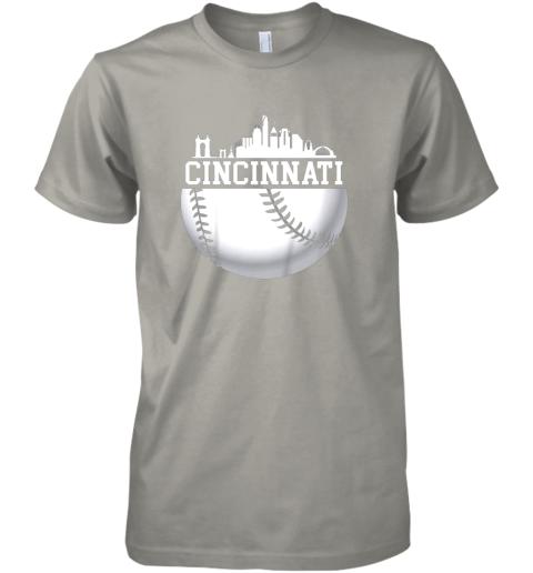 ve5y vintage downtown cincinnati shirt baseball retro ohio state premium guys tee 5 front light grey
