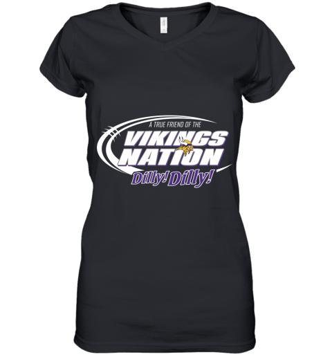 A True Friend Of The Vikings Nation Women's V-Neck T-Shirt