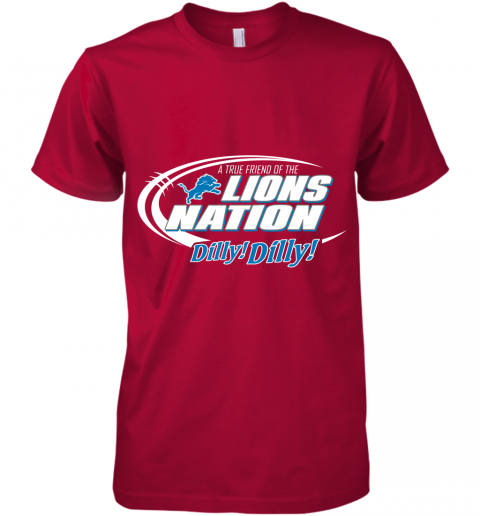 kbug a true friend of the lions nation premium guys tee 5 front red