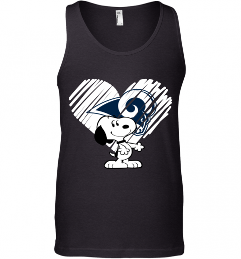 A Happy Christmas With Los Angeles Rám Snoopy Tank Top