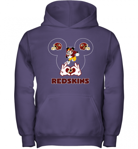 wcro i love the redskins mickey mouse washington redskins youth hoodie 43 front purple